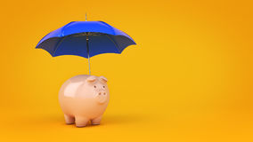 Savings Protection Concept. 3d rendering Stock Photos