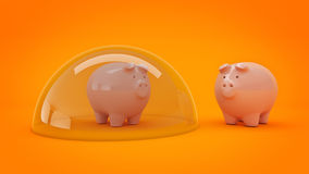 Savings Protection Concept. royalty free illustration