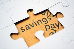 Savings puzzle concept Royalty Free Stock Images