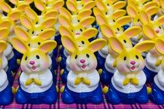 Savings rabbit bank dress Thai style Royalty Free Stock Photos