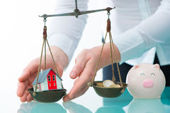 Savings or real estate investment concept Stock Images