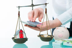 Savings or real estate investment concept Stock Image