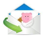 Savings review mail Royalty Free Stock Photos