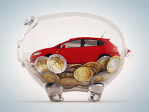 Savings to buy the car Stock Photography