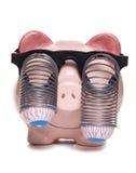Savings to make your eyes bulge. Studio cutout stock image