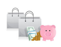 Savings to shop Royalty Free Stock Image