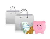 Savings to shop Royalty Free Stock Image