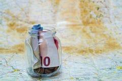 Savings for travel Stock Image