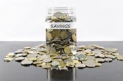 Savings w słoju Obraz Royalty Free