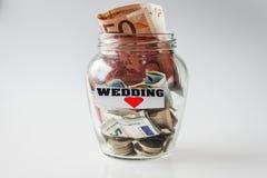 Savings for wedding Stock Images