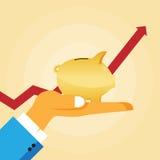 Savings Wzrostowi Zdjęcia Royalty Free