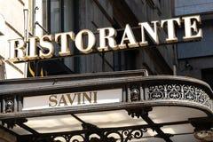 Savini restauracja w Mediolan, Włochy fotografia stock