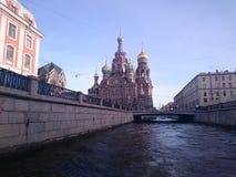 Εκκλησία του Savior στο αίμα - Αγία Πετρούπολη, Ρωσία στοκ εικόνα