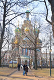 Savior στον καθεδρικό ναό αίματος Στοκ φωτογραφία με δικαίωμα ελεύθερης χρήσης