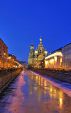 Savior-on-the-blood cathedral. Temple savior-on-the-blood in saint-petersburg Stock Photo