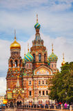 Savior on Blood Cathedral in St. Petersburg, Russia Stock Images