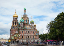 Savior on Blood Cathedral in St. Petersburg, Russia Royalty Free Stock Image