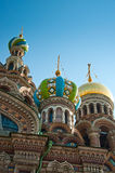 Savior on Blood Cathedral in St Petersburg Royalty Free Stock Photos