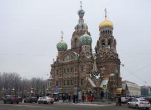 Savior on Blood in Saint-Petersburg Stock Images