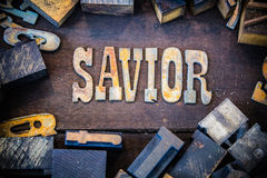 Savior Concept Rusty Type Stock Photography