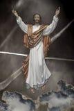 Savior. Photo-Composition of Jesus as mankind savior Royalty Free Stock Photo