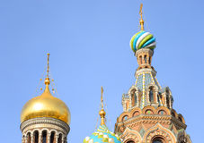 Savior on Spilled Blood Cathedral. Royalty Free Stock Photography