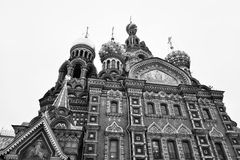 Savior on Spilled Blood Cathedral. Stock Photography