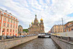 Savior on Spilled Blood Cathedral. Stock Photos