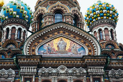 Savior on Spilled Blood is orthodox church in St. Petersburg. Russia Royalty Free Stock Photography