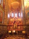 Εσωτερικό της εκκλησίας του Savior στο αίμα στη Αγία Πετρούπολη, Ρωσία στοκ εικόνες με δικαίωμα ελεύθερης χρήσης