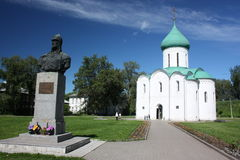 Savior Transfiguration Cathedral and the monument Royalty Free Stock Images