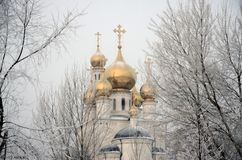 Savior Transfiguration Cathedral, Russia, Abakan stock images