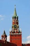 Saviors clock tower. Moscow Kremlin. stock photo