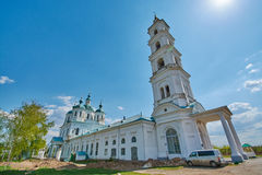 Saviour Cathedral in the city of Yelabuga Stock Image