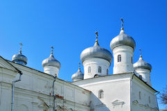 Saviour Cathedral of Russian orthodox Yuriev Monastery in Veliky Novgorod, Russia Royalty Free Stock Photo