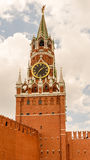 Saviour Clock tower at the Kremlin Stock Image