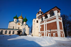 Saviour-Euthimiev monastery  at Suzdal in winter. Russia Royalty Free Stock Photography