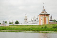 Saviour Prilutskyl Monastery near river Stock Photos