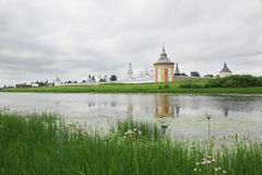 Saviour Prilutskyl Monastery near river Royalty Free Stock Photo