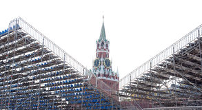 Saviour tower of the Moscow Kremlin Wall Stock Image
