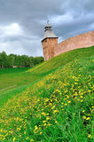 Saviour Tower of Veliky Novgorod Kremlin, Russia Stock Photos
