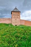Saviour Tower of Veliky Novgorod Kremlin, Russia Royalty Free Stock Photos