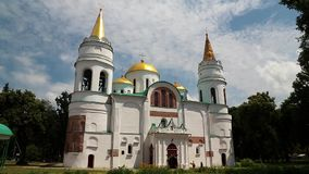 Saviour Transfiguration Cathedral, Chernigov, Ukraine stock video footage