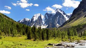Savlo szavlo valley - altai mountains russia Royalty Free Stock Image