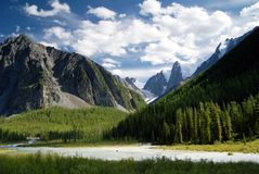 Savlo szavlo valley and rock face - altai Royalty Free Stock Images