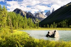 Savlo valley in altai range Stock Image