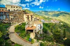 Savoca, Sicilia Immagine Stock