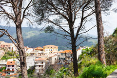Savoca town in Sicilian mountain, Italy Royalty Free Stock Photography