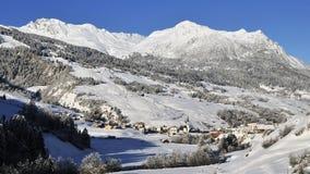 Savognin, alpi del distretto di Albula, Svizzera Immagine Stock