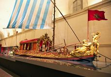 Savoia`s Bucintoro in royal palace of Venaria Royalty Free Stock Images